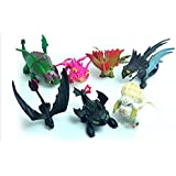 7PCS How To Train Your Dragon 2 Toothless Battle Figure Child Gift Collection