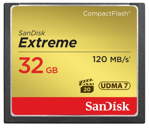New SanDisk Extreme 32GB Compact Flash Memory Card UDMA 7 Speed Up To 120MB/s- SDCFXS-032G-X46