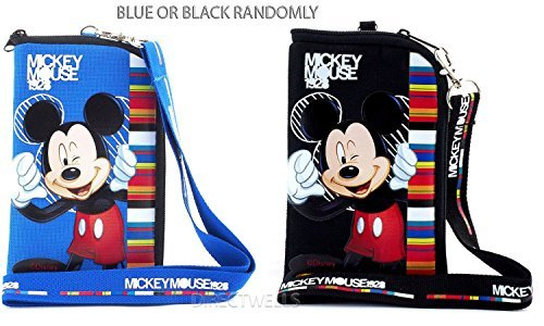 Disney Mickey Mouse Pouch and Lanyard (Random 1pcs)