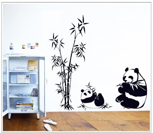 good-life-pandas-comiendo-bambu-china-adhesivo-de-pared-pandas-diy-wall-sticker-decor