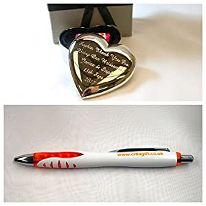 Personalised Heart Trinket Box in Gift Box + FREE CR8 A GIFT PEN - For Girlfriend/Wife