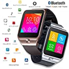 Indigi® GSM UNLOCKED! 1.54 Capacitive Touch Screen Bluetooth Smart Watch - Great Gift Idea! (Silver)