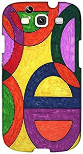 Timpax protective Armor Hard Bumper Back Case Cover. Multicolor printed on 3 Dimensional case with latest & finest graphic design art. Compatible with Samsung S3 - I9300 Galaxy S III Design No : TDZ-25008