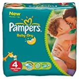 Pampers Baby Dry Gr.4 Maxi 7-18kg MonatsBox, 174 Stck