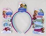 Disney Frozen Hair Style Set Headband Clips Ponies Bundle Elsa Anna Olaf