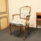 ISUHOUSE sc21ルイ15世スタイルアームチェアロココチェア アンティークになる椅子