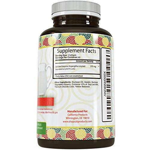 Enzyme supplement for lactose intolerance