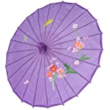 Japanese Chinese Umbrella Parasol 32in Purple 156-10