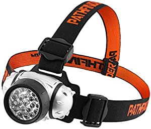 PATHFINDER 21 LED Headlamp Headlight - Water-resistant. 4 Modes Of Operation, Head Safety, Lamp, Flash Light, Torch For Cycling, Climbing, Mountain Biking, Camping, Night Reading. Adjustable Beam Angle. 100,000 Hours LED lifetime (in RETAIL PACKAGING)