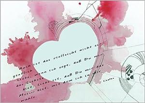 Im 5er Set: Franz Kafka Liebes Zitat auch schön zum Valentinstag