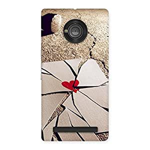 Gorgeous Broken Heart Ace Print Back Case Cover for Yu Yuphoria