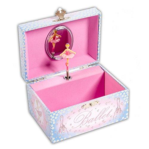 Lucy Locket - Portagioie musicale con carillon per bambina, tema ballerina che danza, scatola regalo