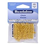 Beadalon Chain 4.1mm Curb Gold Plated, 2-Meters
