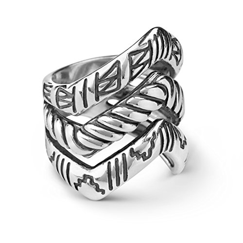 american-west-sterling-silver-chevron-triple-row-ring