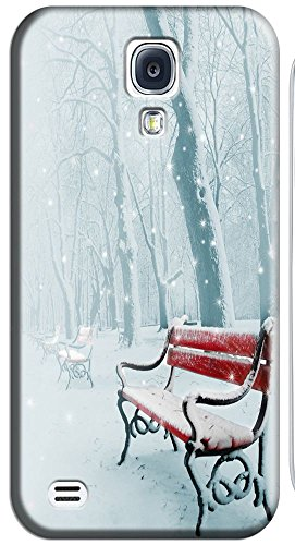 Phones Accessories Beautiful White Snow Tree Vellege Design Cases For Samsung Galaxy S4 I9500 # 8