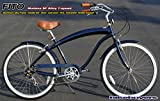 Men's Modena EX Alloy Shimano 7-Speed Beach Cruiser Bike Color: Midnight Blue