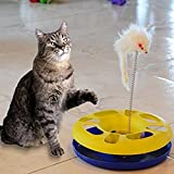 Bulk Buys OD386-1 Ball Track Cat Toy With Mouse Swatter