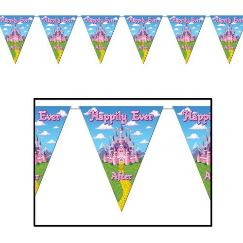 Princess Pennant Banner Party Accessory (1 count) (1/Pkg)