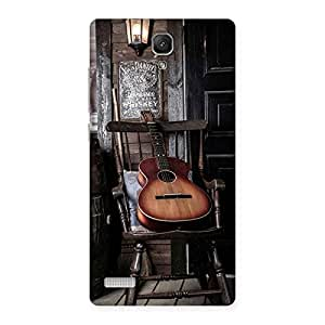 Enticing Old Guitar On Chair Back Case Cover for Redmi Note 4