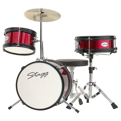 stagg-tim-jr-3-12-rd-batterie-junior-12-hardware-siege-3-pieces-rouge