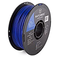 HATCHBOX 3D PLA-1KG3.00-BLU PLA 3D Printer Filament, Dimensional Accuracy +/- 0.05 mm, 1 kg Spool, 3.00 mm, Blue by HATCHBOX