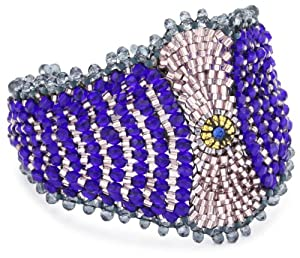 Miguel Ases Blue Quartz and Swarovski Marquis Magnetic Bracelet