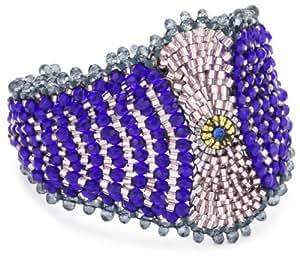 Miguel Ases Blue Quartz and Swarovski Marquis Magnetic Bracelet