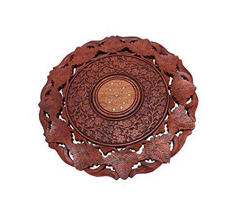 Classic Decorative Folding Wooden Coffee or Side Table Handcrafted with Intricate Carvings