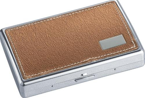 Vienna Brown Synthetic Leather Cigarette Case