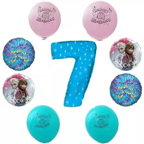 Disney Frozen Happy 7th Birthday Party Balloon Decoration Kit