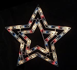 17 lighted twinkling red white and blue for 17 clear lighted star christmas window silhouette decoration