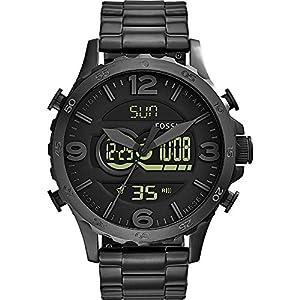 Fossil Men's JR1507 Nate Analog Display Quartz Black Watch