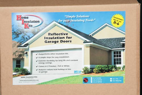 Best reflective garage door insulation kit 2 car dr r 5 for Garage door r value chart