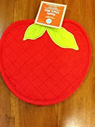 Martha Stewart Collection Apple Shaped Oven Mitt