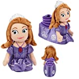 Disney Sofia The First Plush Head Socktop Slippers Toddler Large 9-10