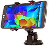 XL Universal Smartphone Car Mount for Windshield and Dashboard. Be Safer While Driving. iPhone 6, iPhone 6 Plus, iPhone 5, iPhone 4. LG G2, G3, G Flex. HTC One, M8. Samsung Galaxy Note 1, 2, 3, S2, S3, S4, S5 and Many Other Mobile Phones - Perfect for Dev