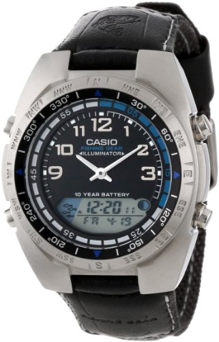 Casio Men's AMW700B-1AV Ana-Digi Forester Fishing Timer Watch