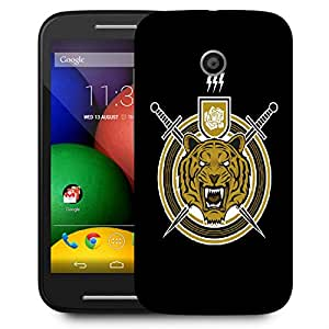 Snoogg Tiger Sword Designer Protective Back Case Cover For Motorola Moto E