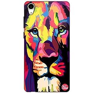 Designer HTC 826 Case Cover Nutcase-Colorful Lion Attitude