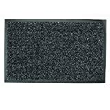 Dandy Charcoal Barrier Mat - Ribbed Polypropylene & PVC Backing - 150cm x 90cm