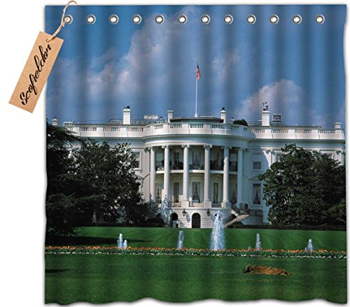 [iPrint Brand The White House Bathroom Mildew-Resistant Antibacterial Waterproof Polyester Fabric Shower Curtain] (Dr Gregory House Costume)