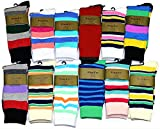 Fine Fit Mens Stripe Colorful Cotton Socks (2 Pair)