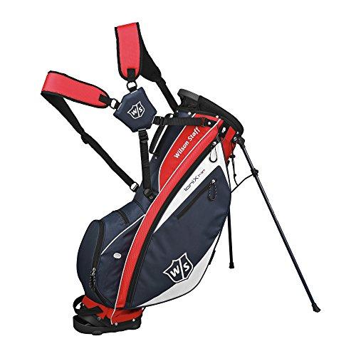 Wilson 2015 Ionix Light Tifoso Borsa Da Golf, Colore Rosso/Blu Marina/Bianco