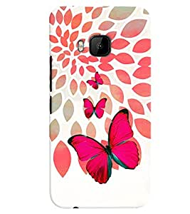 PrintVisa Stylish Cool Girl Butterfly 3D Hard Polycarbonate Designer Back Case Cover for HTC ONE M9+