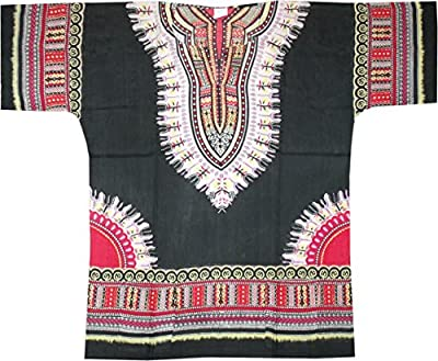 American Dashiki Brand One Size Comfort Cotton Traditional Dashiki :
