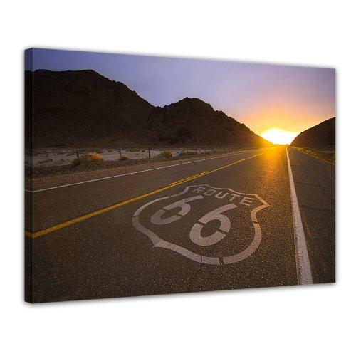 Bilderdepot24 Leinwandbild Historische Route 66 - USA - 70x50 cm 1 teilig - fertig gerahmt, direkt vom Hersteller