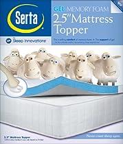 Hot Sale Serta 2.5-Inch Queen Gel-Memory Foam Mattress Topper