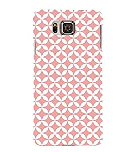 Baby Pink Self Diamond 3D Hard Polycarbonate Designer Back Case Cover for Samsung Galaxy Alpha G850