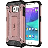 Cubix Impact Hybrid Armor Defender Case For Samsung Galaxy S6 (Rose Gold)