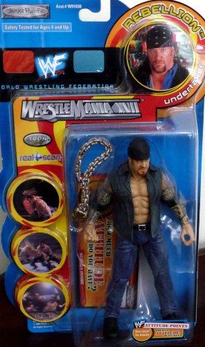 Buy Low Price Jakks Pacific the UNDERTAKER WWE WWF Wrestlemania XVII Rebellion Series 1 Figure (B004XINLBA)